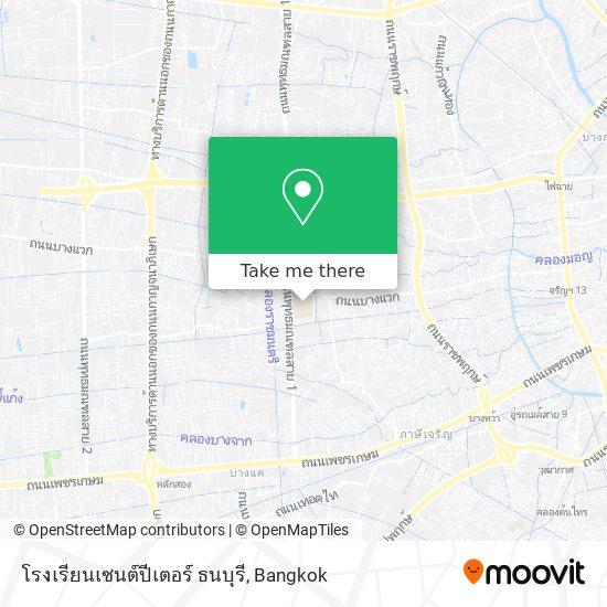 โรงเรียนเซนต์ปีเตอร์ ธนบุรี map