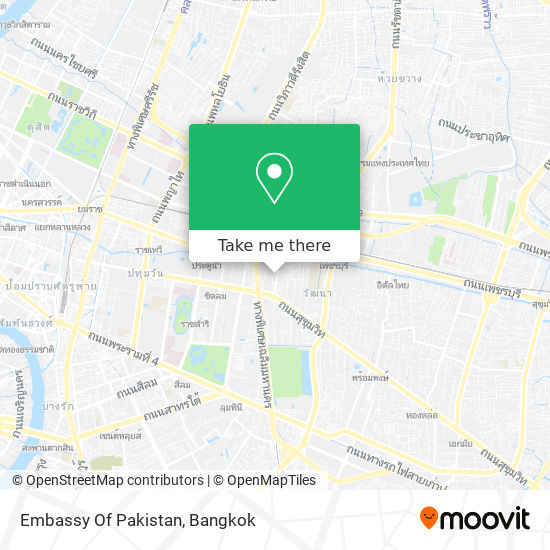 Embassy Of Pakistan map