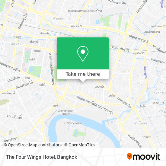 The Four Wings Hotel map
