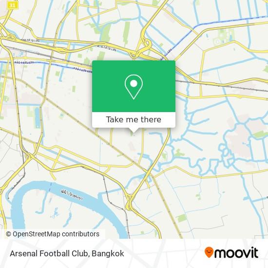 Arsenal Football Club map