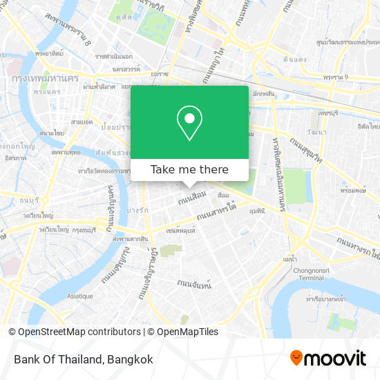 Bank Of Thailand map
