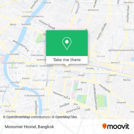 Monomer Hostel map