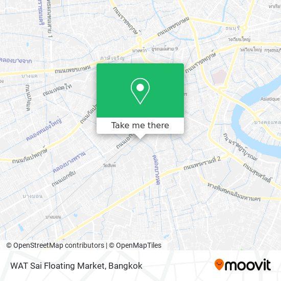 Wat Sai Floating Market map