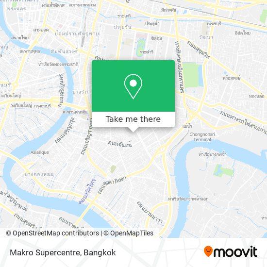Makro Supercentre map