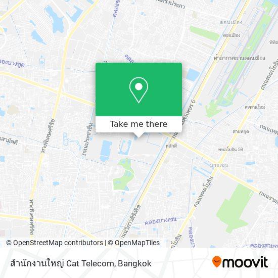 สำนักงานใหญ่ Cat Telecom map