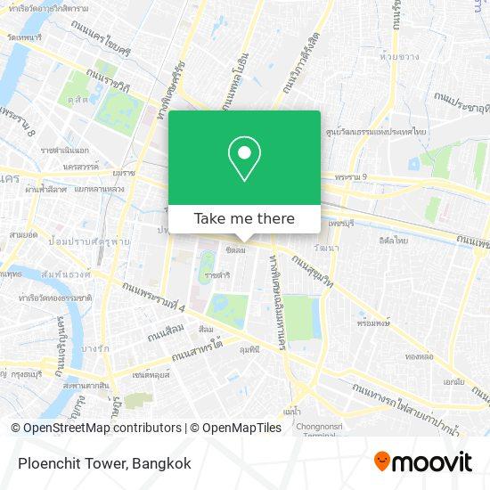 Ploenchit Tower map