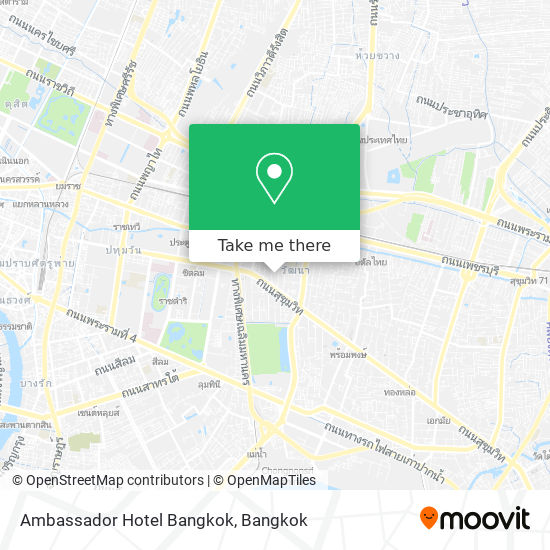 Ambassador Hotel Bangkok map