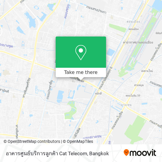 อาคารศูนย์บริการลูกค้า Cat Telecom map
