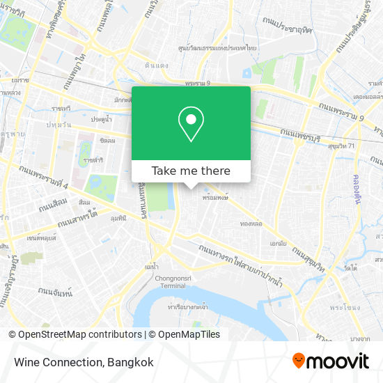 Wine Connection map