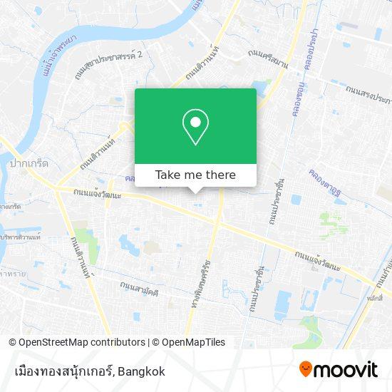 เมืองทองสนุ้กเกอร์ map