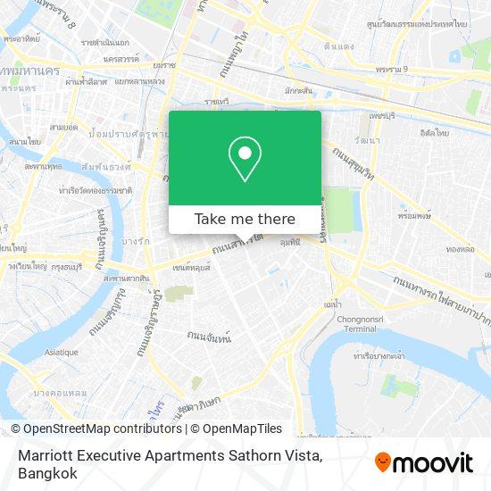 Marriott Executive Apartments Sathorn Vista map