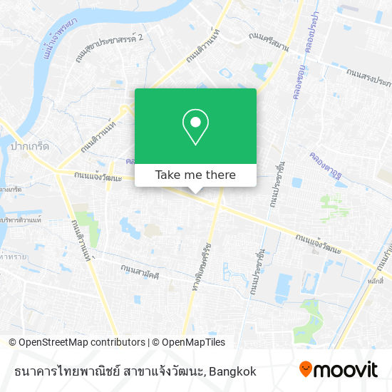 ธนาคารไทยพาณิชย์ สาขาแจ้งวัฒนะ map