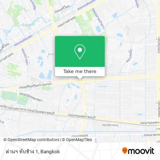 ด่านทับช้าง (ขาเข้า) map