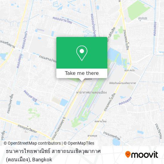 ธนาคารไทยพาณิชย์ สาขาถนนเชิดวุฒากาศ (ดอนเมือง) map
