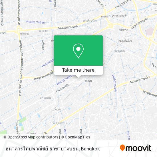 ธนาคารไทยพาณิชย์ สาขาบางบอน map
