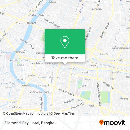 Diamond City Hotel map