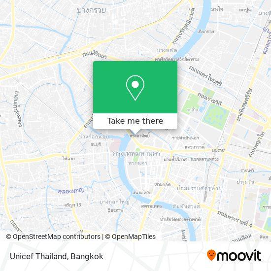 Unicef Thailand map