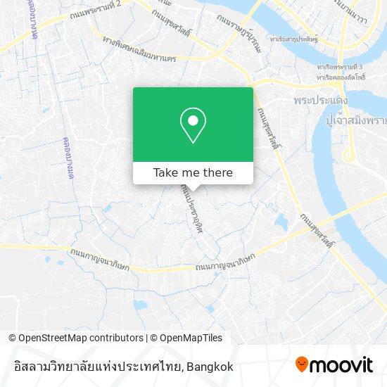 อิสลามวิทยาลัยแห่งประเทศไทย map