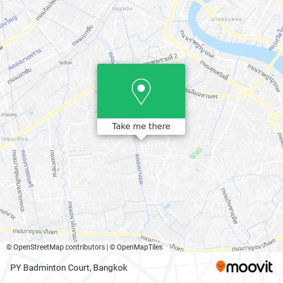 PY Badminton Court map