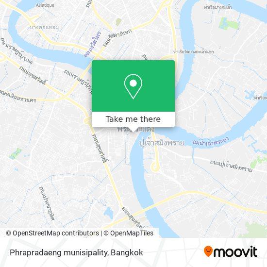 Phrapradaeng munisipality map