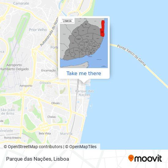 Parque das Nações map