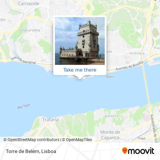 Torre de Belém map