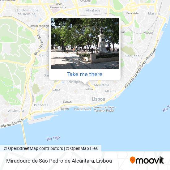 Miradouro de São Pedro de Alcântara map