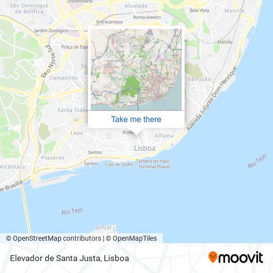 Elevador de Santa Justa map