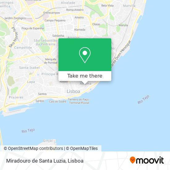 Miradouro de Santa Luzia map