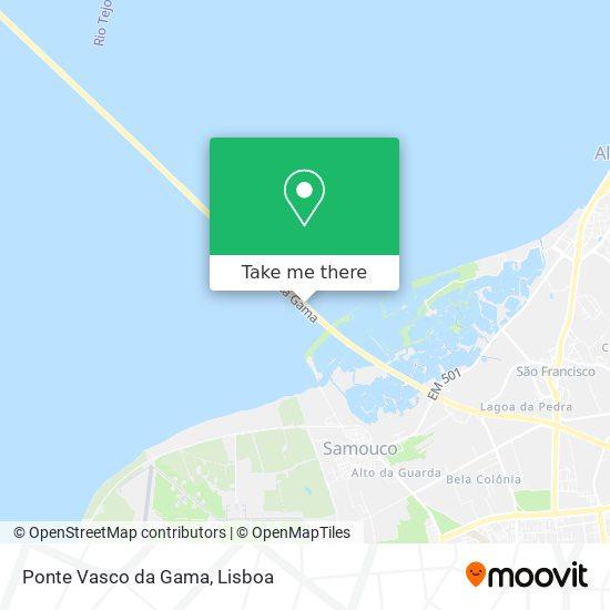 Ponte Vasco da Gama map