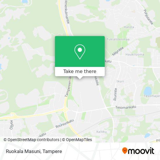 Ruokala Masuni map