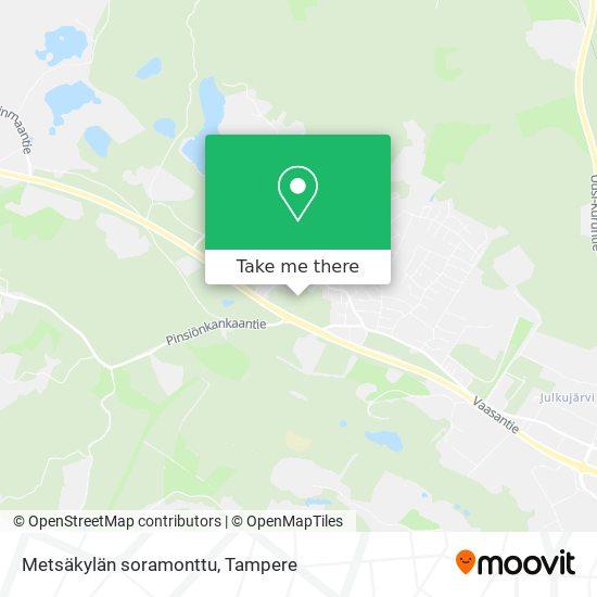 Metsäkylän soramonttu map