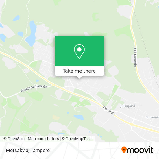 Metsäkylä map