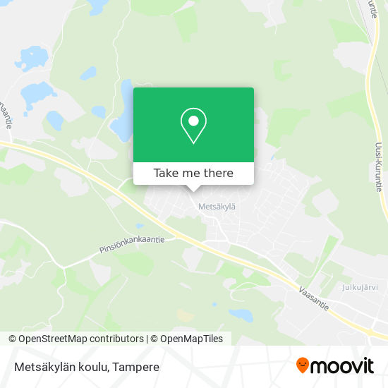Metsäkylän koulu karta