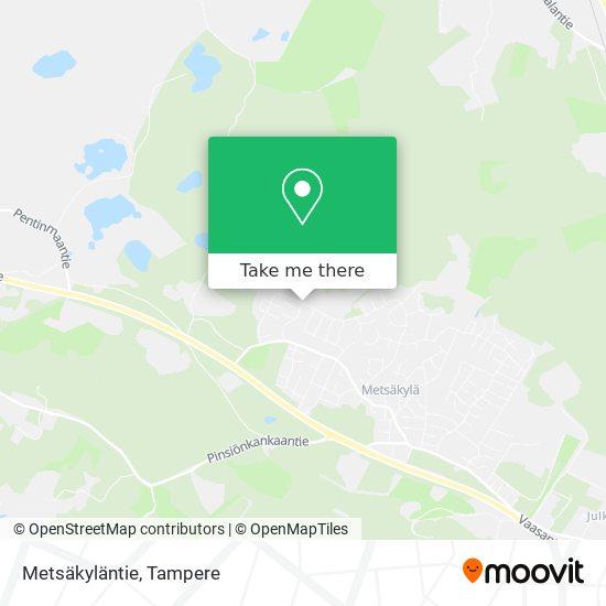 Metsäkyläntie map