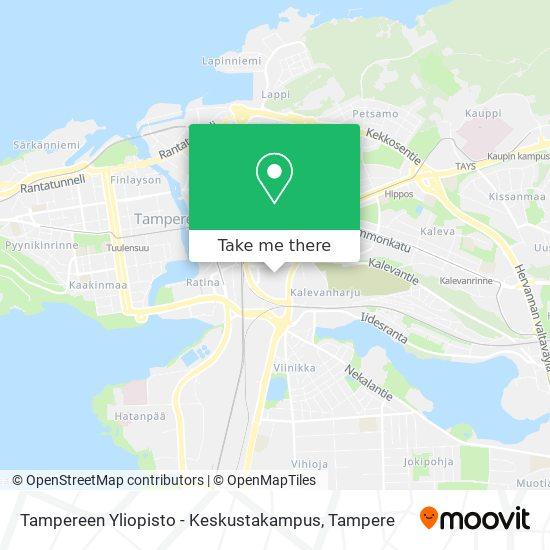 Tampereen Yliopisto - Keskustakampus map