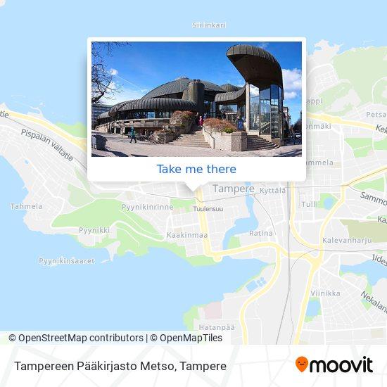 Tampereen Pääkirjasto Metso map