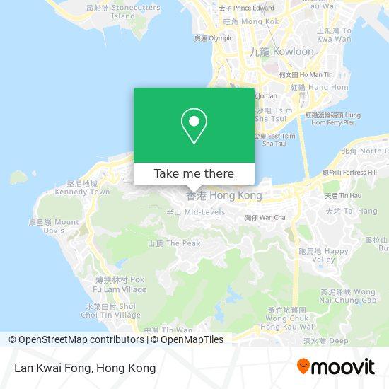Lan Kwai Fong地図