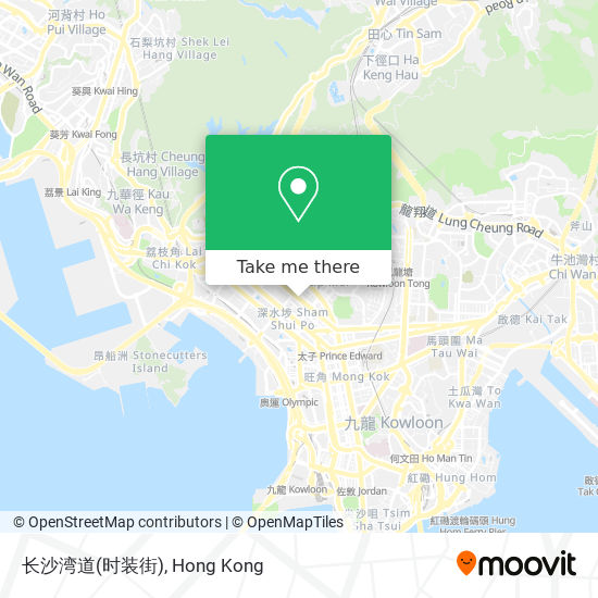 长沙湾道(时装街)地図