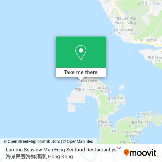 Lamma Seaview Man Fung Seafood Restaurant 南丫海景民豐海鮮酒家地図