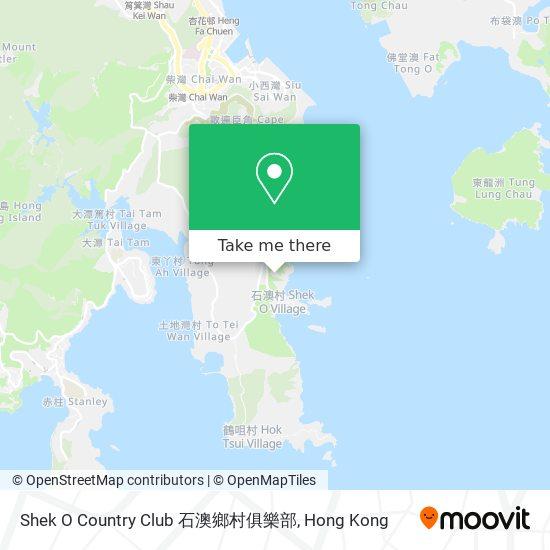 Shek O Country Club 石澳鄉村俱樂部地図