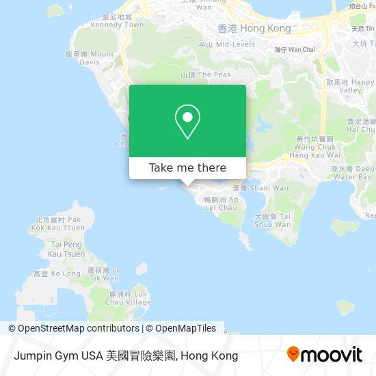 Jumpin Gym USA 美國冒險樂園 지도