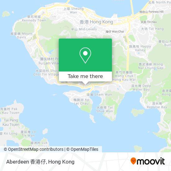 Aberdeen 香港仔地図