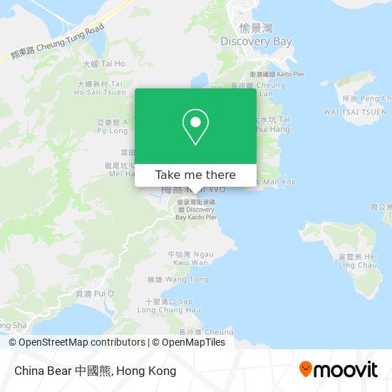 China Bear 中國熊地図