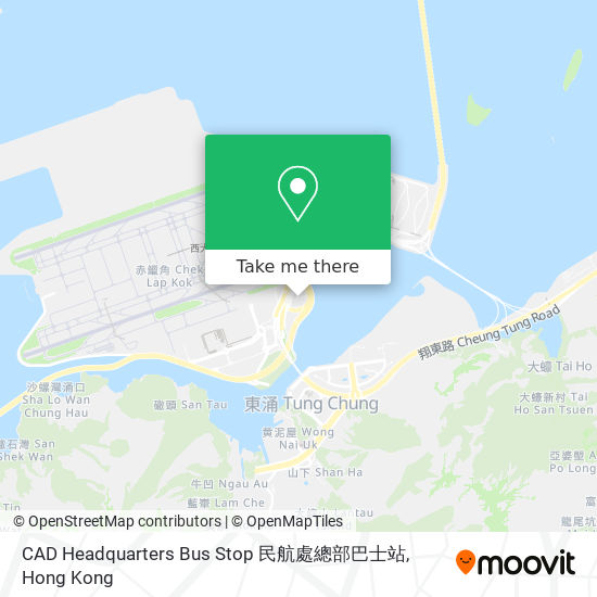 CAD Headquarters Bus Stop 民航處總部巴士站地図
