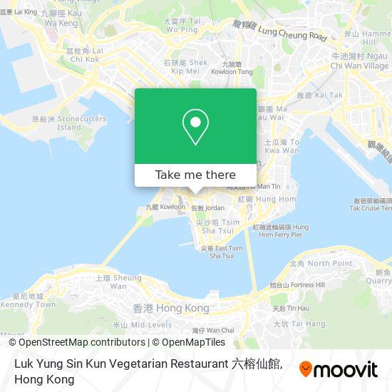 Luk Yung Sin Kun Vegetarian Restaurant 六榕仙館地図