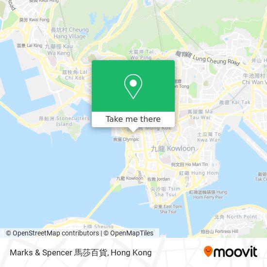 Marks & Spencer 馬莎百貨地図