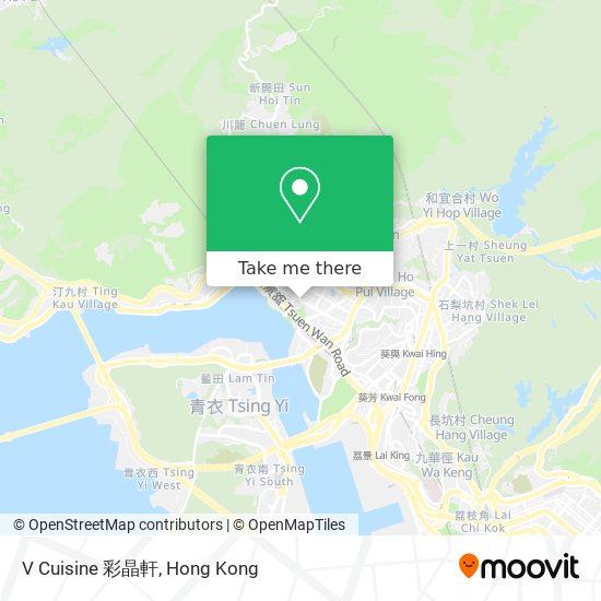 V Cuisine 彩晶軒地図