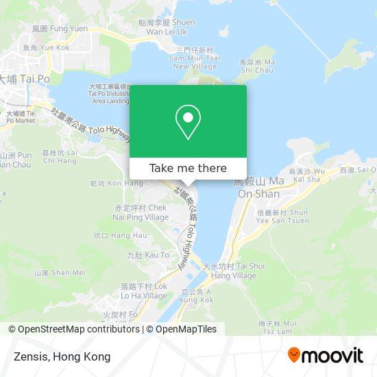 Zensis地図