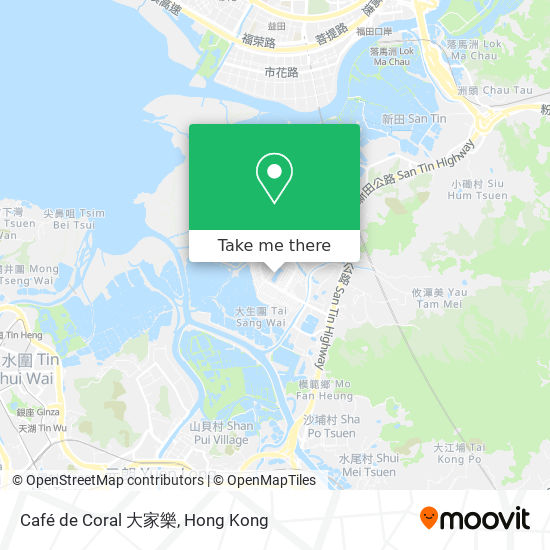 Café de Coral 大家樂地図